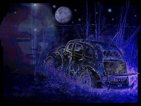 Digital Art - Ghost  Car by Hartmut Jager