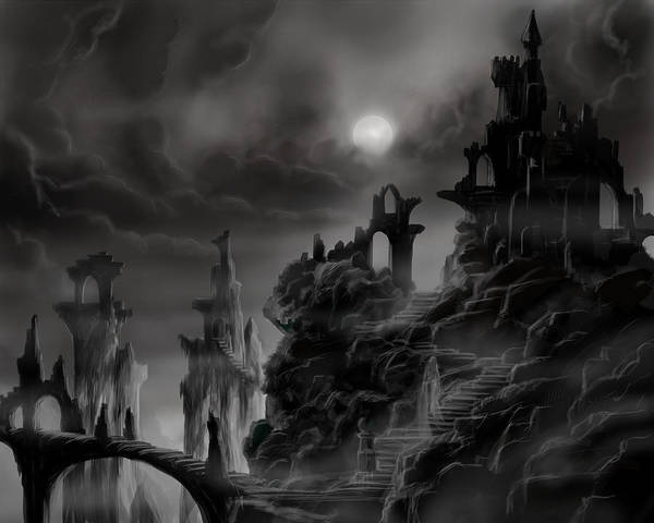Painting - Ghost Castle by James Christopher Hill