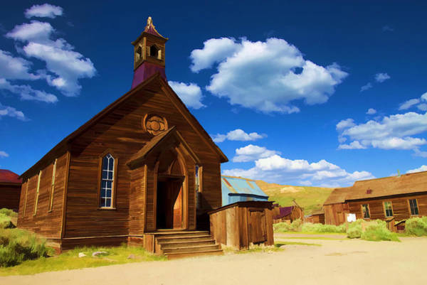 Bodie Ghost Town Wall Art - Photograph - Ghost Church by Ricky Barnard