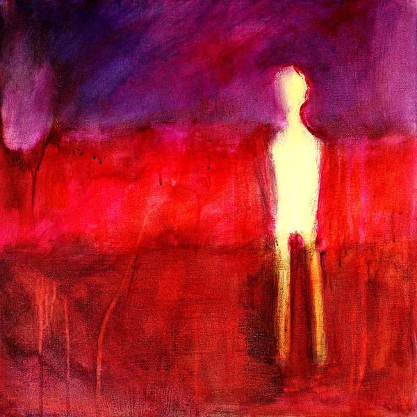 Human Figure Painting - Ghost Figure No. 6 by Nancy Merkle