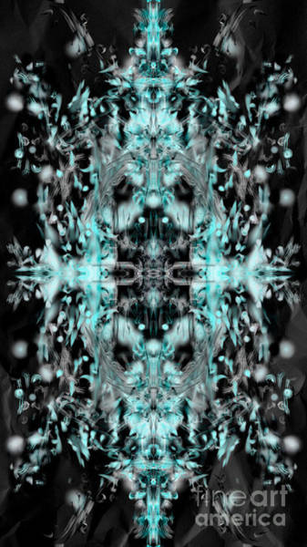 Digital Art - Ghost Flake Inverted by Reed Novotny
