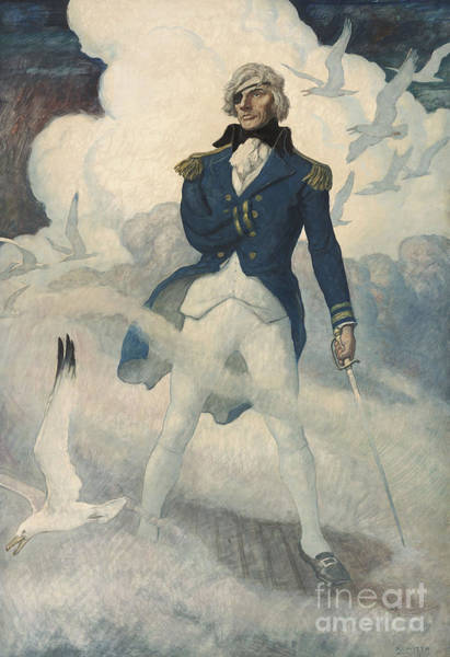 Wall Art - Painting - Ghost Of Admiral Nelson by Newell Convers Wyeth