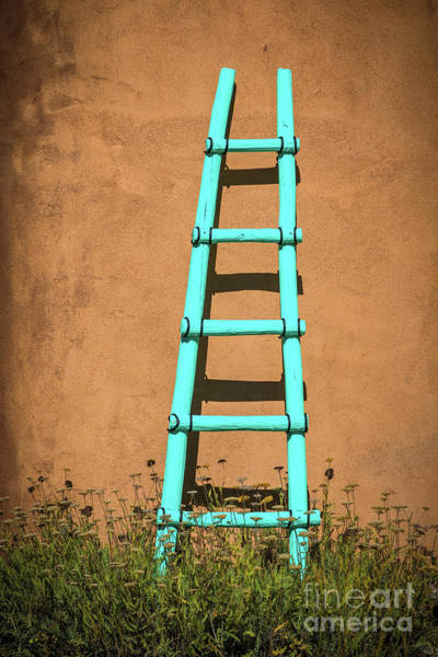 Wall Art - Photograph - Ghost Ranch Ladder by Inge Johnsson