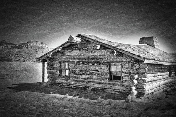 Photograph - Ghost Ranch Log Cabin - New Mexico by Stuart Litoff