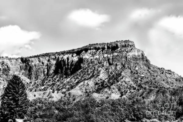 Photograph - Ghost Ranch Mountains In Black And White by Kay Brewer