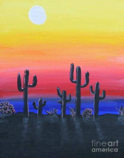 Painting - Ghost Saguaro by Jean Clarke