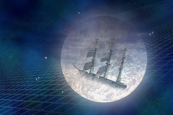 Wall Art - Digital Art - Ghost Ship by Carol and Mike Werner