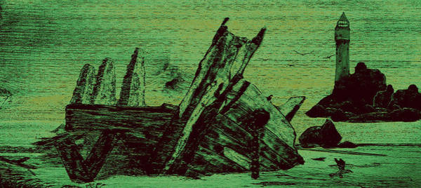 Jetti Wall Art - Painting - Ghost Shipwreck by Ken Figurski