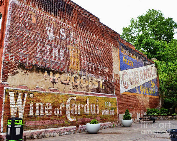 Radford Photograph - Ghost Signs In Radford Virginia by Kerri Farley