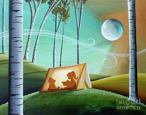 Full Moon Painting - Ghost Stories by Cindy Thornton