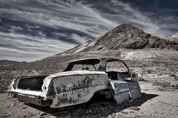 Photograph - Ghost Town Junked Car by Stuart Litoff