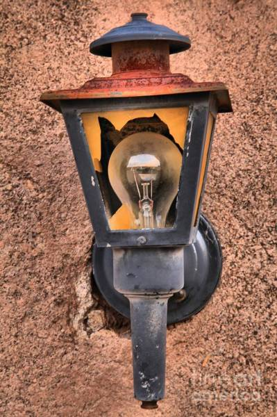 Photograph - Ghost Town Lamp by Adam Jewell