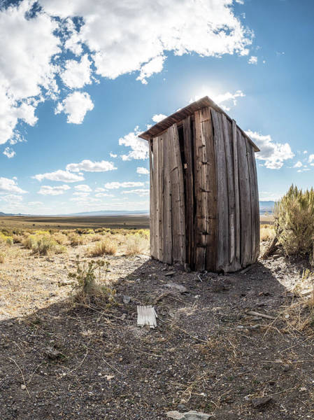 Ghost Town Outhouse Art Print