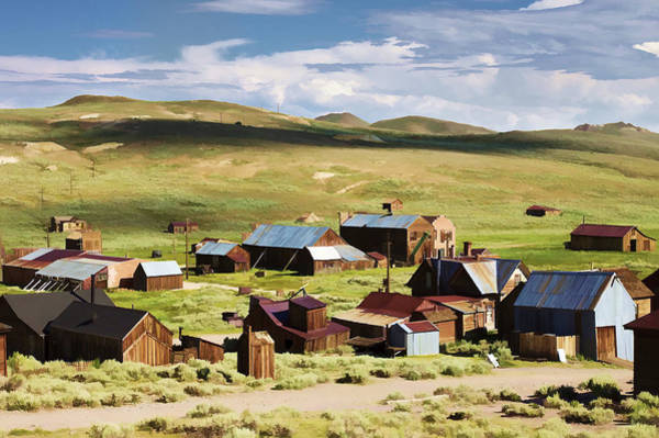 Bodie Ghost Town Wall Art - Photograph - Ghost Town by Ricky Barnard