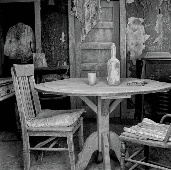 Photograph - Ghost Town Table by Tom Singleton