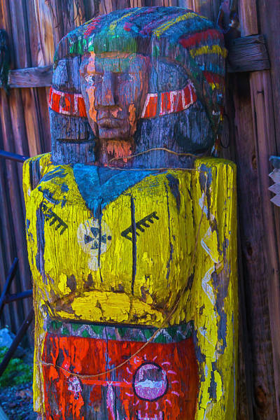 Wall Art - Photograph - Ghost Town Wooden Indian by Garry Gay