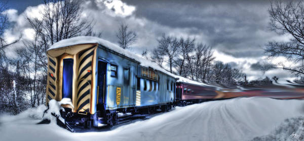 Photograph - Ghost Train In An Existential Storm by Wayne King