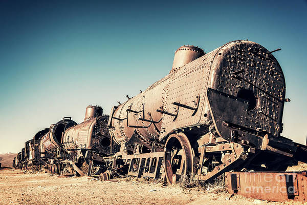 Wall Art - Photograph - Ghost Train In Uyuni, Bolivia by Delphimages Photo Creations