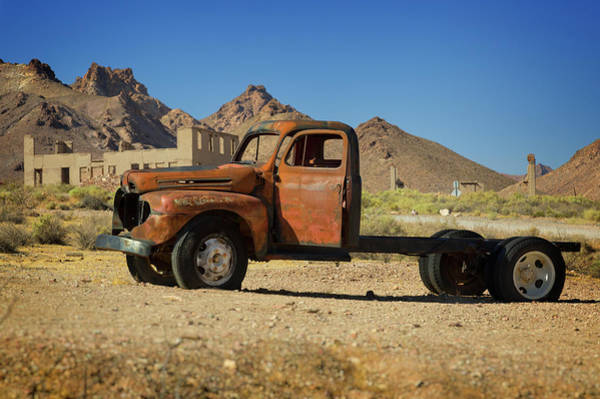 Ghosttown Photograph - Ghost Truck by Ricky Barnard