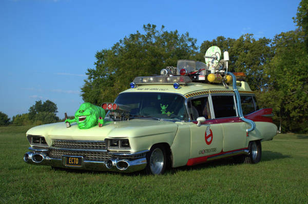 Photograph - 1959 Cadillac Ghostbusters Ambulance Replica by Tim McCullough