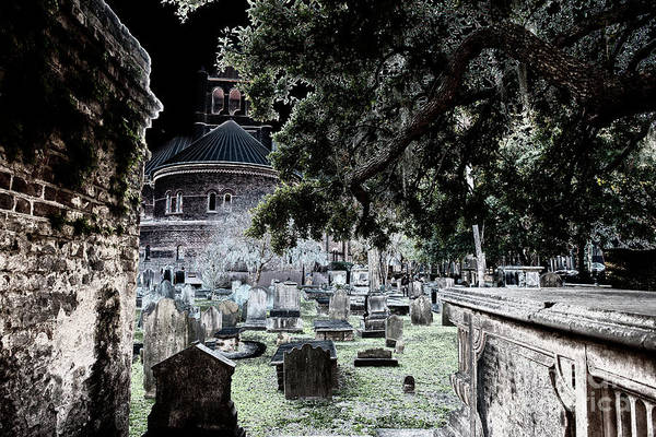 Photograph - Ghostly Cemetary by Dale Powell