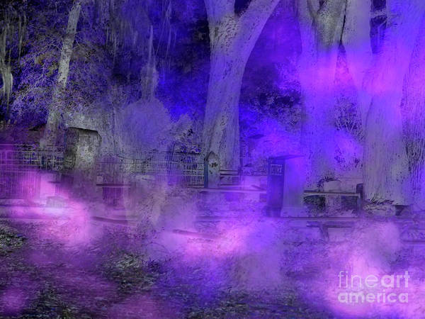 Photograph - Ghostly Image In The Cemetery by D Hackett