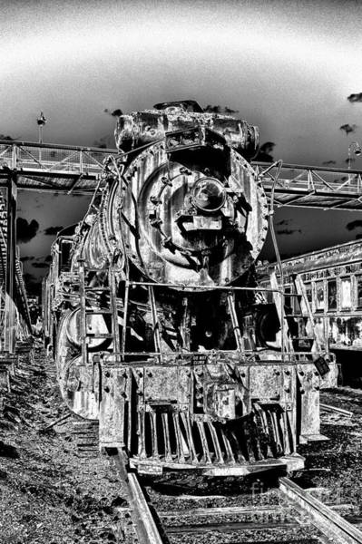 Solarized Photograph - Ghostly Old Engine by Paul W Faust -  Impressions of Light