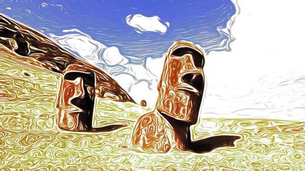 Wall Art - Painting - Ghosts Of Easter Island by Sarah Kirk