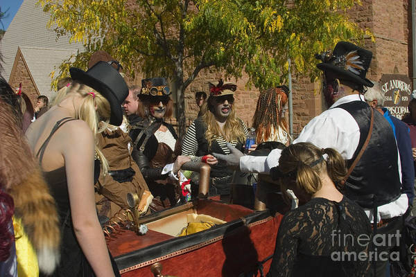 Photograph - Ghoulish Racers At Emma Crawford Coffin Races In Manitou Springs Colorado by Steve Krull