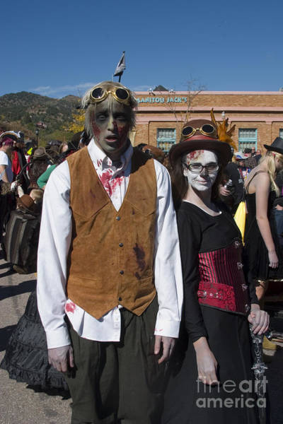 Photograph - Ghouls At The Emma Crawford Coffin Races In Manitou Springs Colorado by Steve Krull