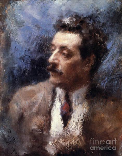Photograph - Giacomo Puccini by Granger