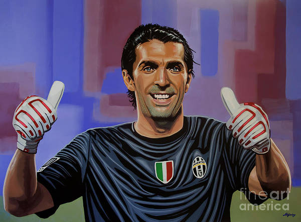 Football Players Wall Art - Painting - Gianluigi Buffon Painting by Paul Meijering