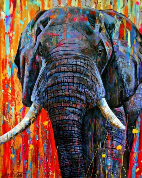 Wall Art - Painting - Giant by Angie Wright