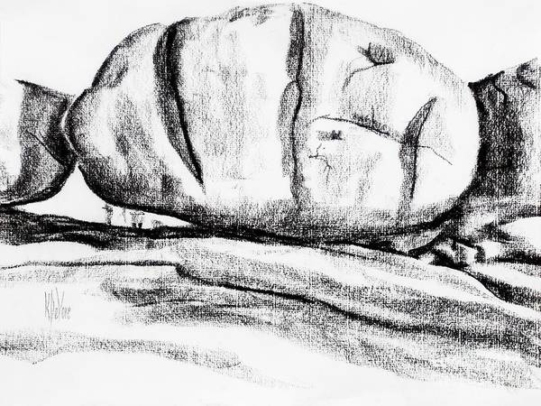 Drawing - Giant Baked Potato At Elephant Rocks State Park by Kip DeVore