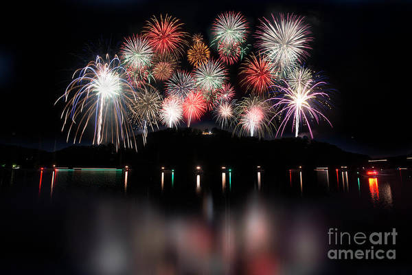 Photograph - Giant Display Of Firework - Paintography by Dan Friend