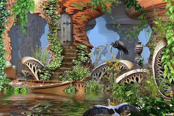 Giant Mushroom Forest Art Print