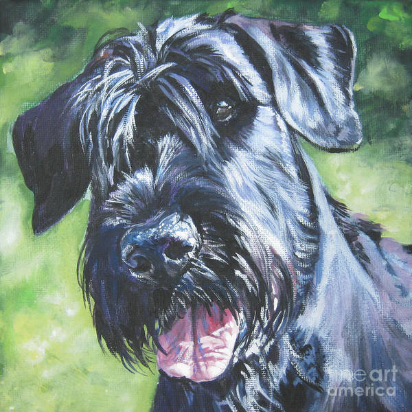 Giant Painting - Giant Schnauzer by Lee Ann Shepard