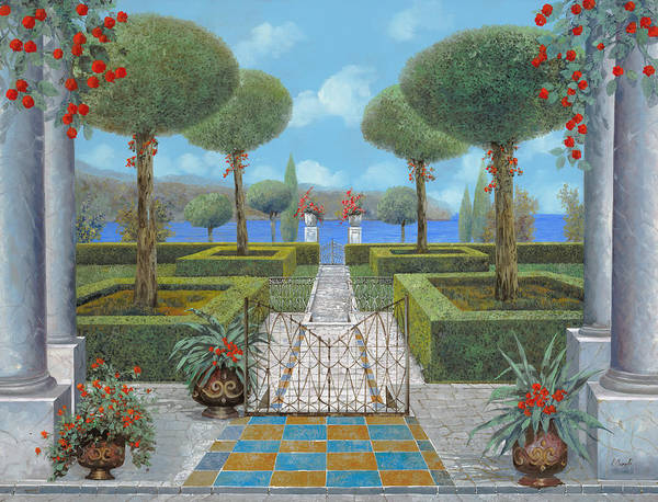 Lake Wall Art - Painting - Giardino Italiano by Guido Borelli