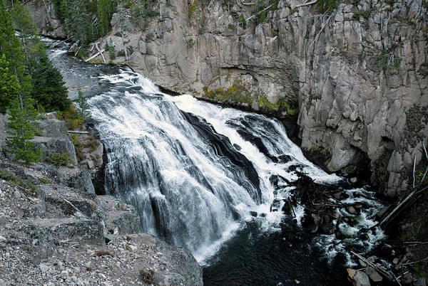 Photograph - Gibbon Falls by Alex Galkin