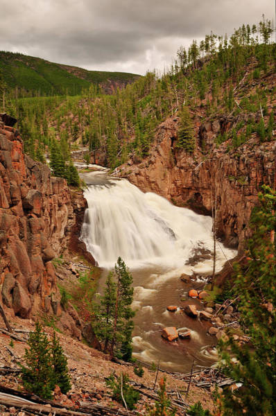 Photograph - Gibbon Falls II by Greg Norrell