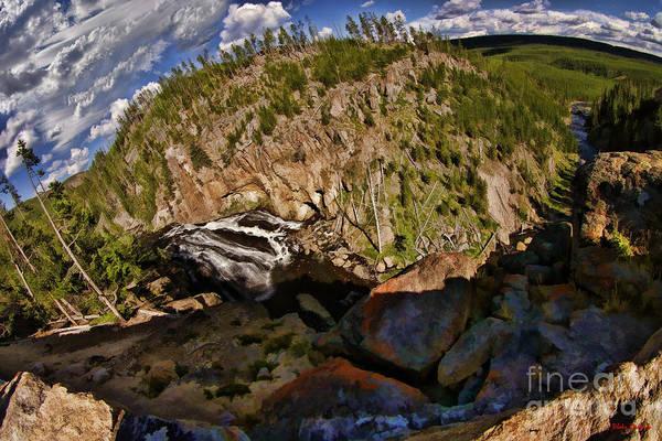 Photograph - Gibbon Falls Yellowstone by Blake Richards