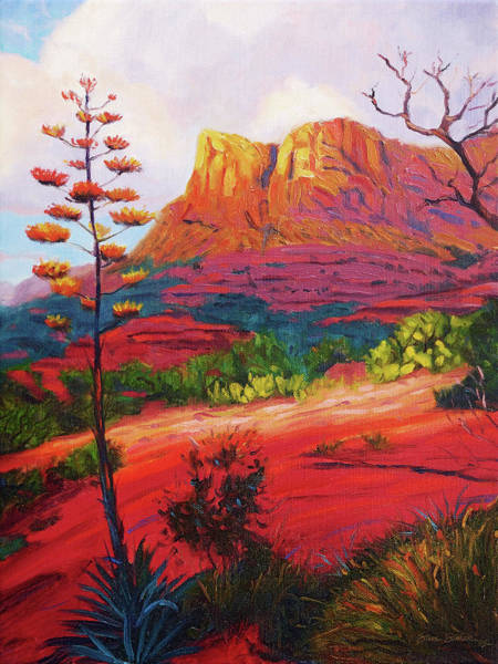 Red Rock Painting - Gibraltar by Steve Simon