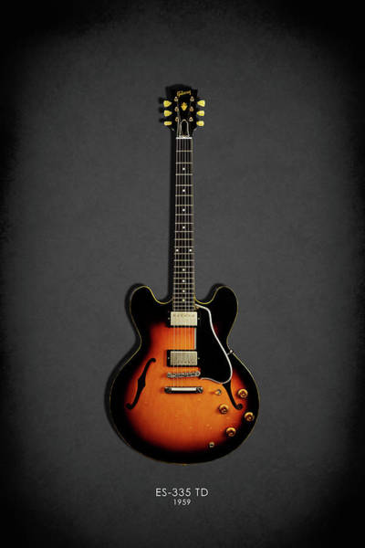Electric Guitar Wall Art - Photograph - Gibson Es 335 1959 by Mark Rogan