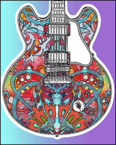 Wall Art - Painting - Gibson Es-335 by Dean Russo Art