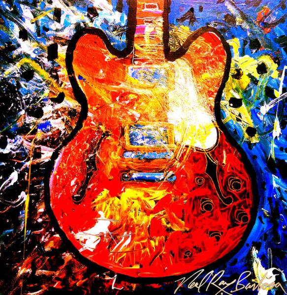 Painting - gibson ES-335 by Neal Barbosa