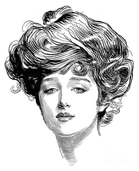 Turn Of The Century Wall Art - Photograph - Gibson Girl, 1900 by Charles Dana Gibson