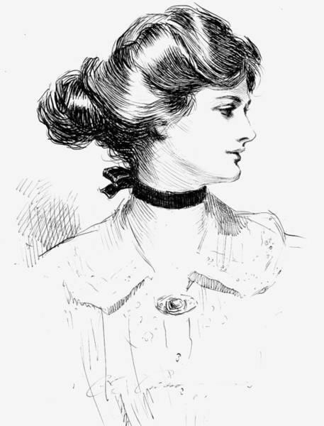 Buns Photograph - Gibson: Gibson Girl, 1905 by Granger