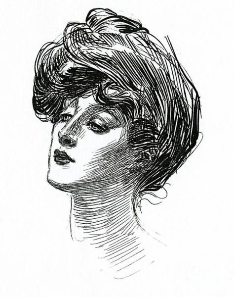 Wall Art - Drawing - Gibson Girl 1902 by Charles Dana Gibson