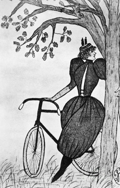 Photograph - Gibson Girl: Bicycle by Granger
