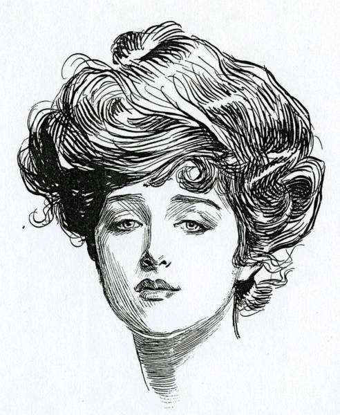 Wall Art - Drawing - Gibson Girl by Charles Dana Gibson